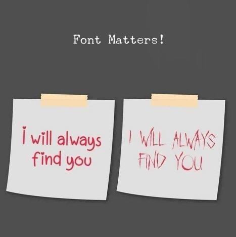 Font matters